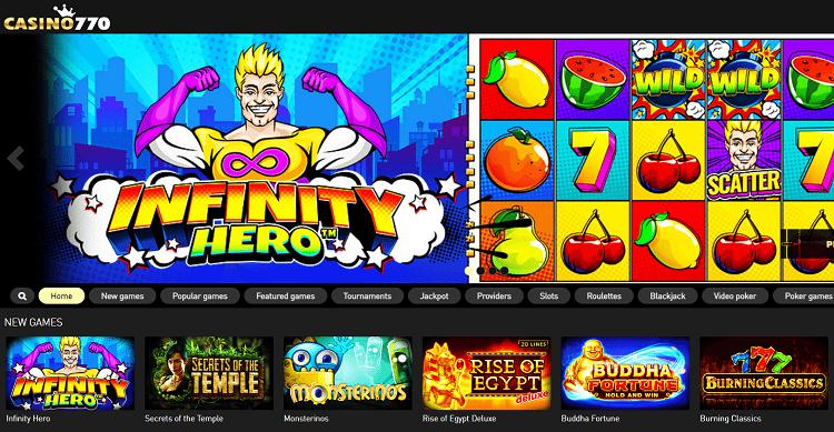 Casino 770 : présentation, bonus et jeux