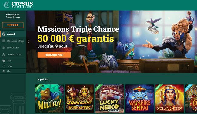 Cresus Casino : présentation, bonus et jeux
