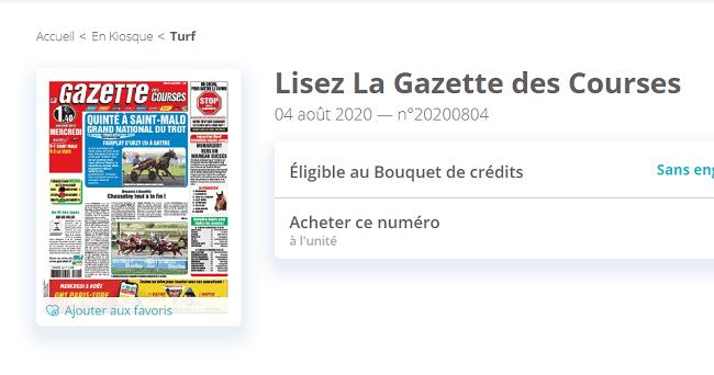 Magazine La Gazette des Courses : présentation et avantages