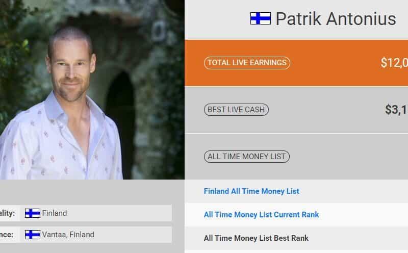 Patrick Antonius : biographie et palmarès