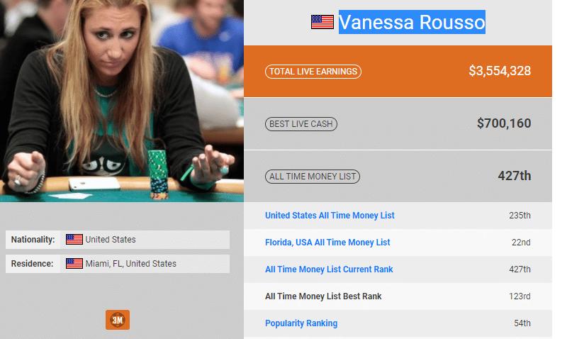 Vanessa Rousso : biographie et ses exploits au poker
