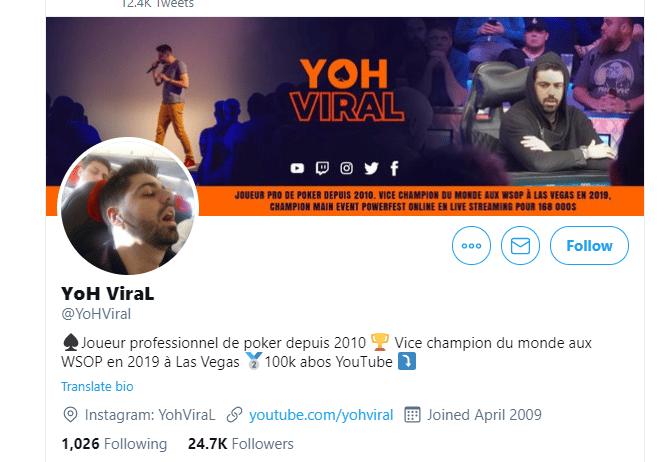 Yoh Viral : biographie et ses exploits au poker